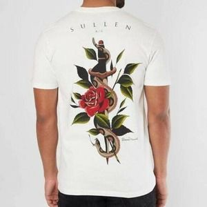 NWOT Sullen Forgiveness Antique White Tee Small